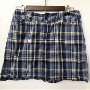St. John's Bay Shorts - St. John's Bay Blue Plaid Skort • Size 10